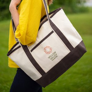 Q-Tees 20L Small Canvas Deluxe Tote